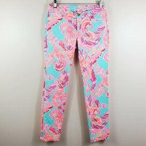 LILLY PULITZER love birds Kelly skinny ankle pants